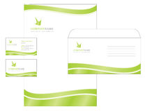 Template design with logo, blank, visiting card a Stock Photography
