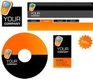 Template design of logo, letterhead, banner, heade. R, disk and business card - vector file stock illustration