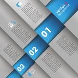 Template Design 5 Options Depth Bevel Blue Gray Stock Images