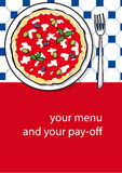 Template design of pizza menu Royalty Free Stock Photo