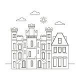 Template Design Sights of Ireland. Royalty Free Stock Photos