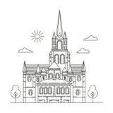 Template Design Sightseeing of Ireland. Royalty Free Stock Photos