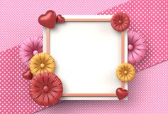 Template design for special days. Happy mother`s day. Happy vale Stock Image