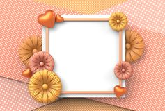 Template design for special days. Happy mother`s day. Happy vale Stock Photos