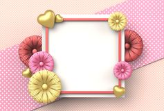 Template design for special days. Happy mother`s day. Happy vale Royalty Free Stock Photo