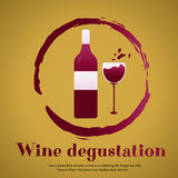 Template design suitable for wine tasting invitation or party. Eco poster Save the Planet with hands and globe for the world environment day Royalty Free Stock Images