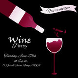Template design suitable for wine tasting invitation or party Stock Photos