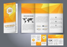 Template design three fold flyer, brochure Stock Photo