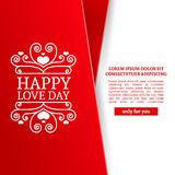 Template design Valentine banner. Happy valentine`s day brochure with decoration pink tape for sale. Romantic poster Royalty Free Stock Image