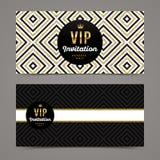Template design for VIP invitation royalty free illustration