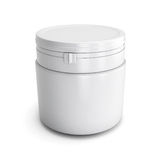 Template for design of a white plastic can with product Royalty Free Stock Image