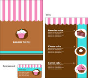 Template designs of bakery and restaurant menu Royalty Free Stock Photos