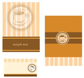 Template designs of business card for coffee shop Royalty Free Stock Photography
