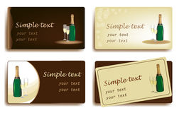 Template designs of business card for restaurant Stock Images