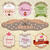 Template designs of food and drink banners Stock Photo