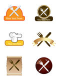 Template designs of icons for hotel and restaurant Stock Photography