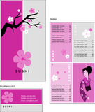 Template designs of menu and business card for cof
