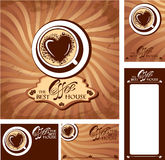 Template designs of menu and business cards for co Royalty Free Stock Photo