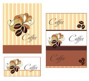 Template Designs Of Menu And Business Card For Cof Stock Image