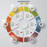 Template for diagram, graph, presentation and chart with 6 options, parts, steps or processes. Stock Photos