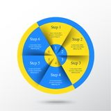 Vector infographic template. Template for diagram, graph, presentation and chart with 6 options, parts, steps or processes. Vector infographic Stock Illustration