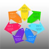 Vector infographic template. Template for diagram, graph, presentation and chart with 7 options, parts, steps or processes. Vector infographic Vector Illustration