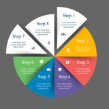 Vector infographic template. Template for diagram, graph, presentation and chart with 8 options, parts, steps or processes. Vector infographic vector illustration