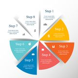 Vector infographic template. Template for diagram, graph, presentation and chart with 8 options, parts, steps or processes. Vector infographic stock illustration