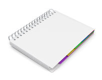 Template diary with a white cover Stock Images