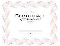 Template of diploma or certificate Stock Photography