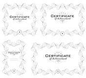 Template of diploma or certificate Royalty Free Stock Images