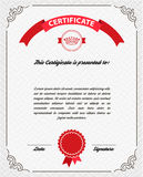 Template diploma, certificate currency Royalty Free Stock Image