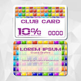 Template of discount card in tile game style Stock Photography