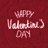 Template Doodle Valentine`s day  card. Ideal for celebrations valentines day Royalty Free Stock Photos