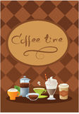 Template of drink menu Stock Image