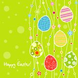 Template Easter greeting card Stock Images