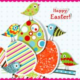 Template Easter greeting card Stock Image
