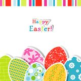 Template Easter greeting card Royalty Free Stock Photography