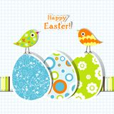 Template Easter greeting card Stock Photo
