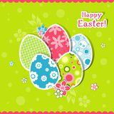 Template Easter greeting card Stock Photos