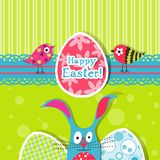 Template Easter greeting card Royalty Free Stock Photos