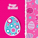 Template Easter greeting card, vector Stock Photos