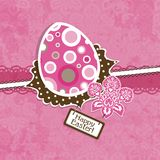 Template Easter greeting card, vector Stock Photography