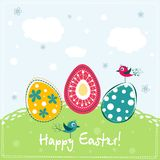 Template Easter greeting card, vector Royalty Free Stock Images