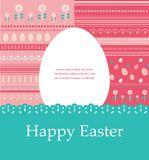 Template Easter greeting card, vector illustration Royalty Free Stock Photo