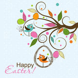 Template Easter greeting card, vector Royalty Free Stock Image