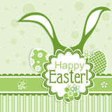 Template Easter greeting card, vector Royalty Free Stock Photography