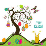 Template Easter greeting card, vector Stock Photo