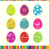 Template Easter greeting card, vector Royalty Free Stock Photo