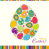 Template Easter greeting card, vector Stock Image